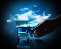 Two glasses of blue liquid - PhotoDune Item for Sale