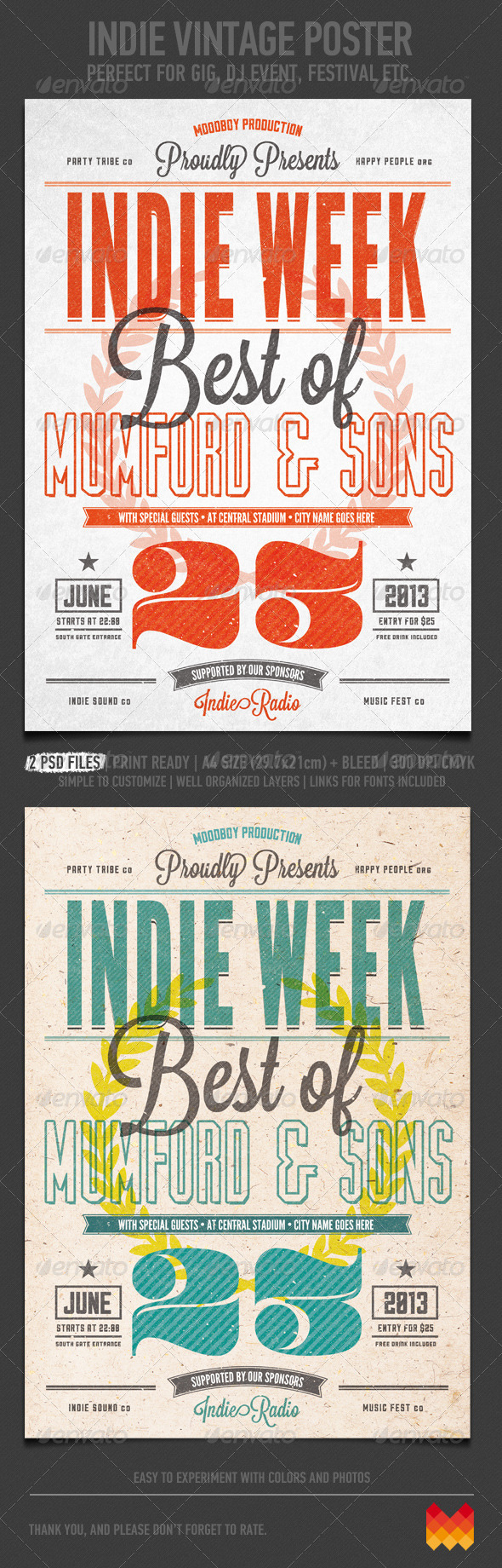 GraphicRiver Indie Vintage Flyer Poster 4654450