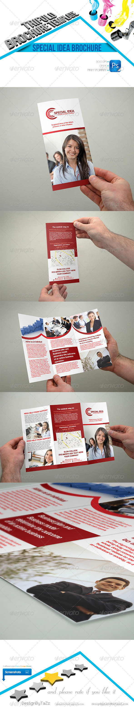 GraphicRiver Special Idea Trifold Brochure Template 4654524