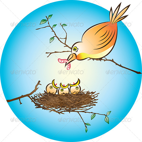 GraphicRiver Feeding Chicks 4630056