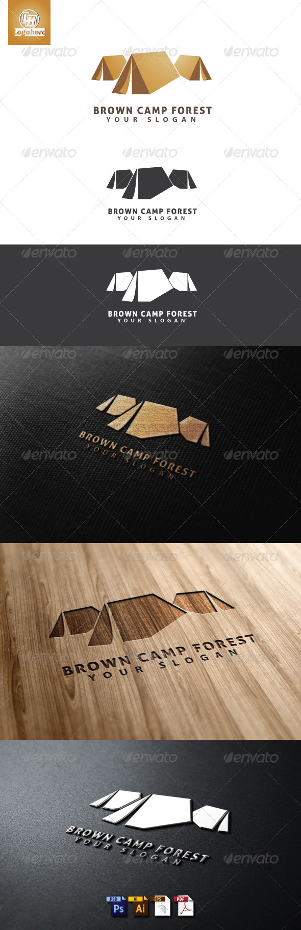 GraphicRiver Brown Camp Forest Logo Template 4655421