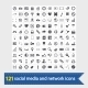 Social Media and Network Icons - GraphicRiver Item for Sale
