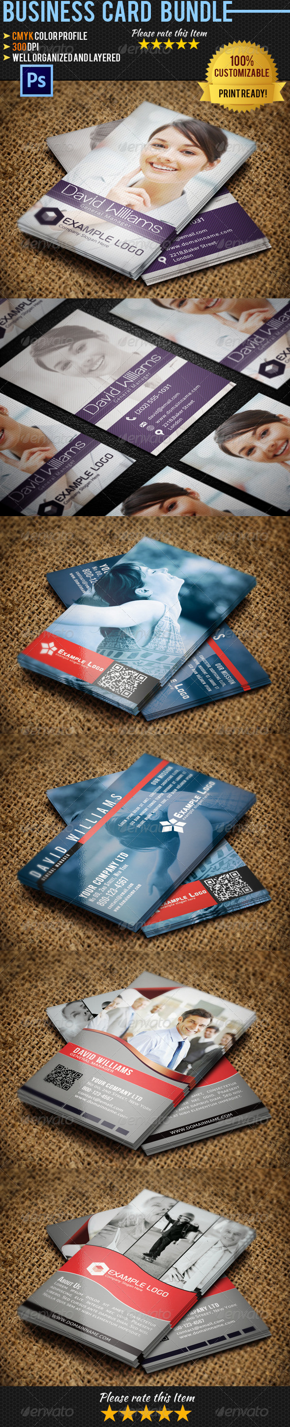 GraphicRiver Corporate Business Card Bundle 05 4655691