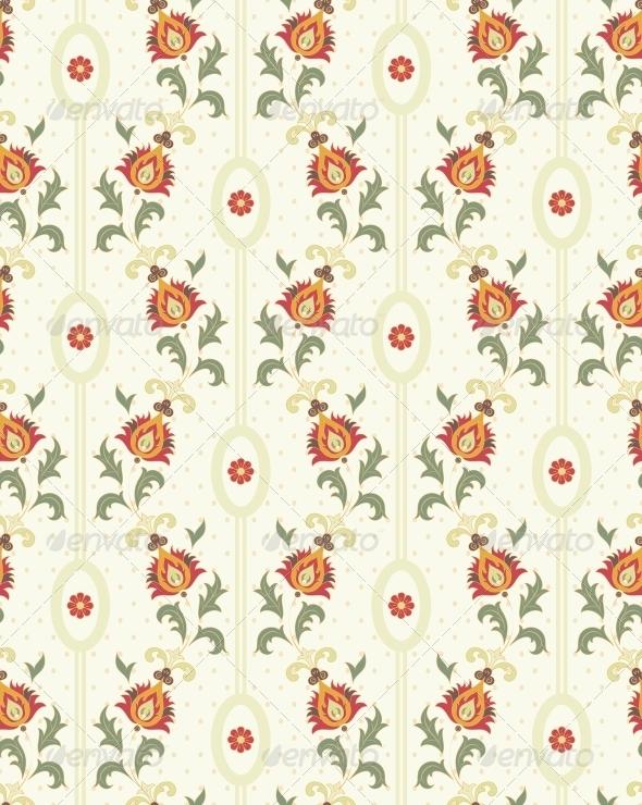 GraphicRiver Retro Floral Wallpaper 4655867