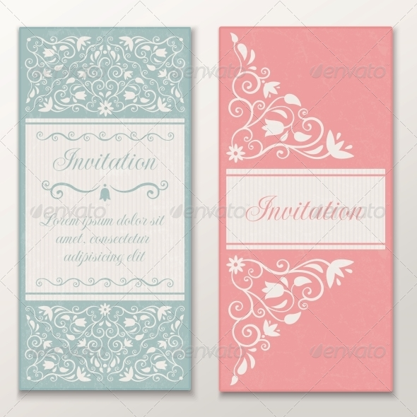 GraphicRiver Set of Wedding Invitations 4655871