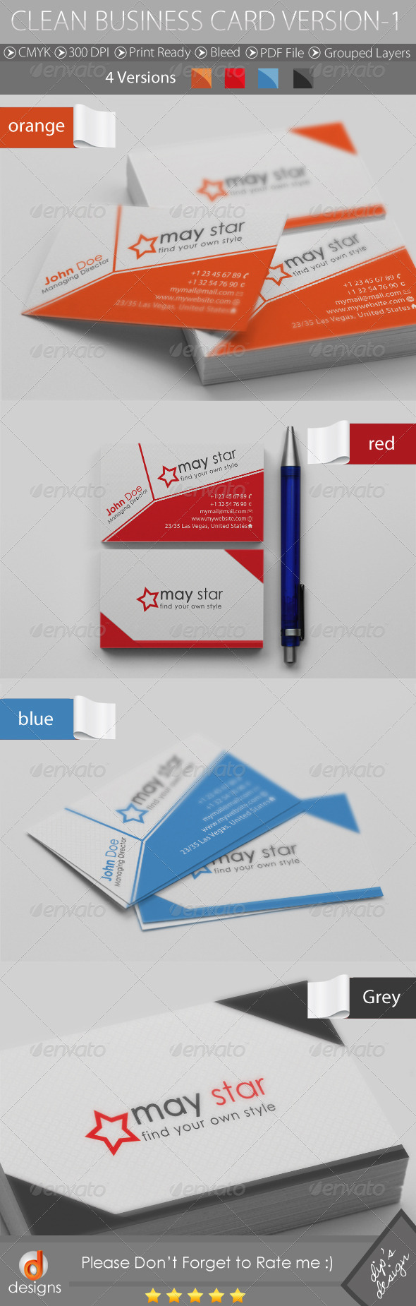 GraphicRiver Clean Business Card Version-1 4656196