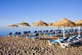 Sun Loungers on Marbella Beach - PhotoDune Item for Sale