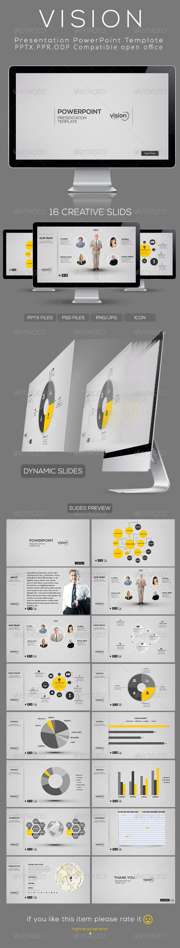 GraphicRiver Vision Powerpoint Presentation Template 4648635