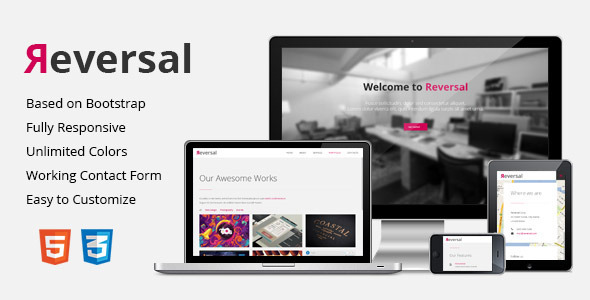 Reversal - Responsive One-Page Template - Creative Site Templates