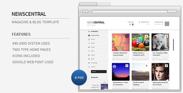 News Central - News Template - Creative PSD Templates