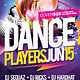 Dance Players Flyer Template - GraphicRiver Item for Sale