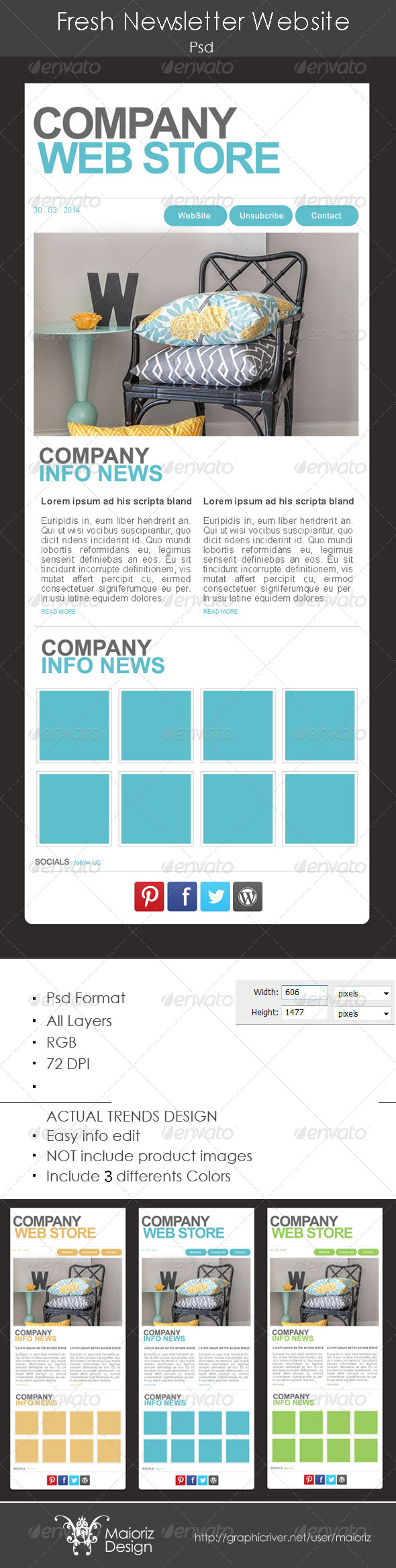 GraphicRiver Fresh Website Newsletter 4659689