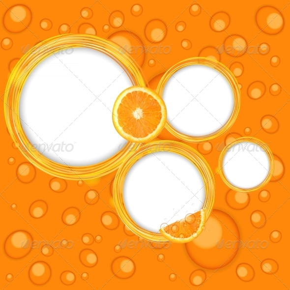 GraphicRiver Abstract Frame with Orange Vector Illustration 4659721
