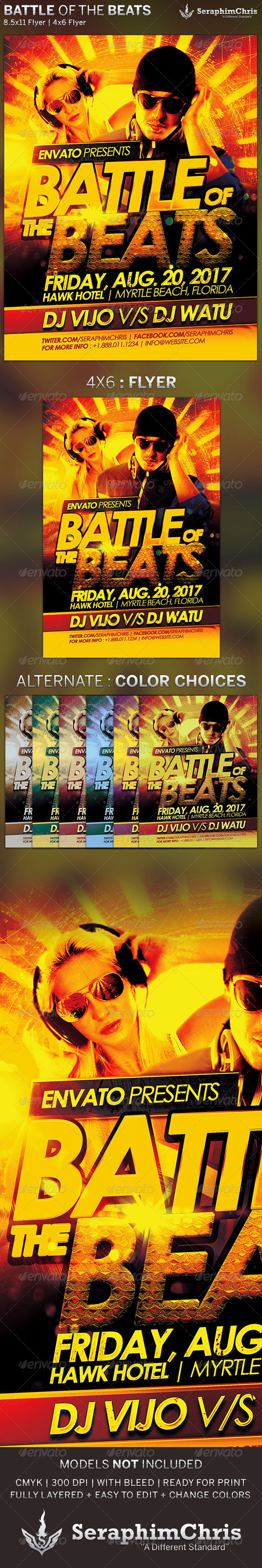 Battle of The Beats: Event Flyer Template - Events Flyers