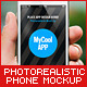 Photorealistic Phone Mock-Up - GraphicRiver Item for Sale
