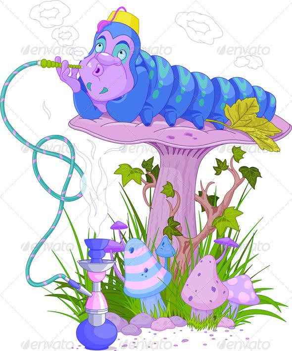GraphicRiver The Blue Caterpillar 4659913
