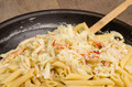 Dungeness Crab macaroni and cheese on the stove - PhotoDune Item for Sale