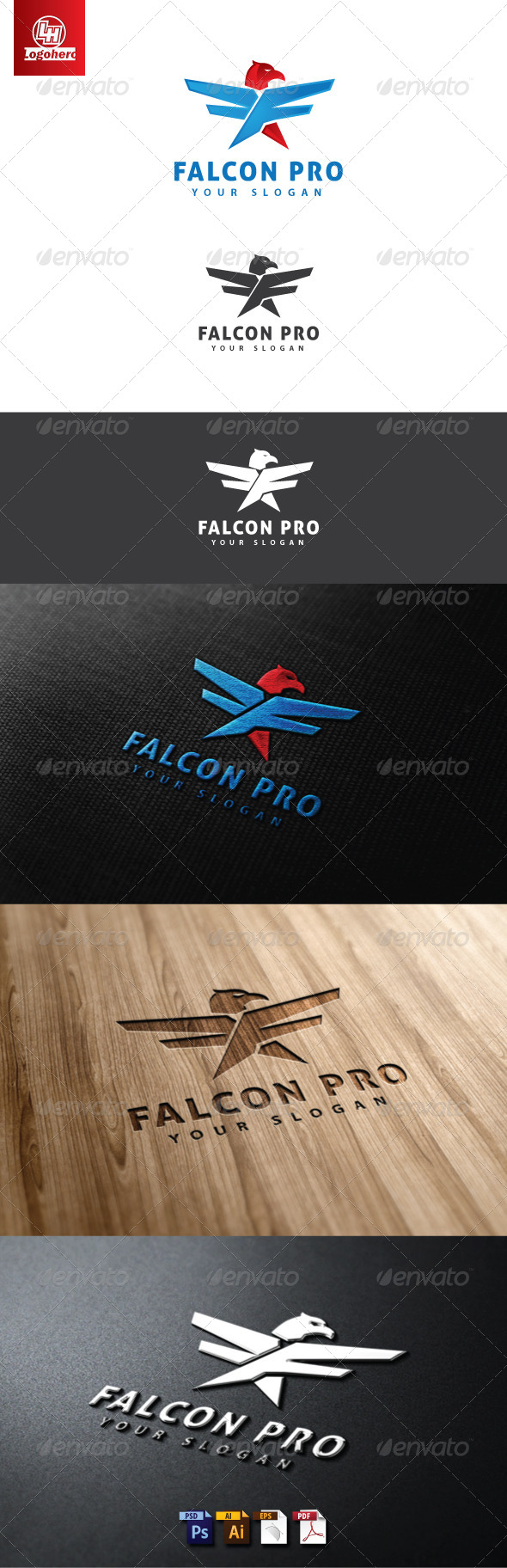 GraphicRiver Falcon Pro Logo Template.zip 4660658