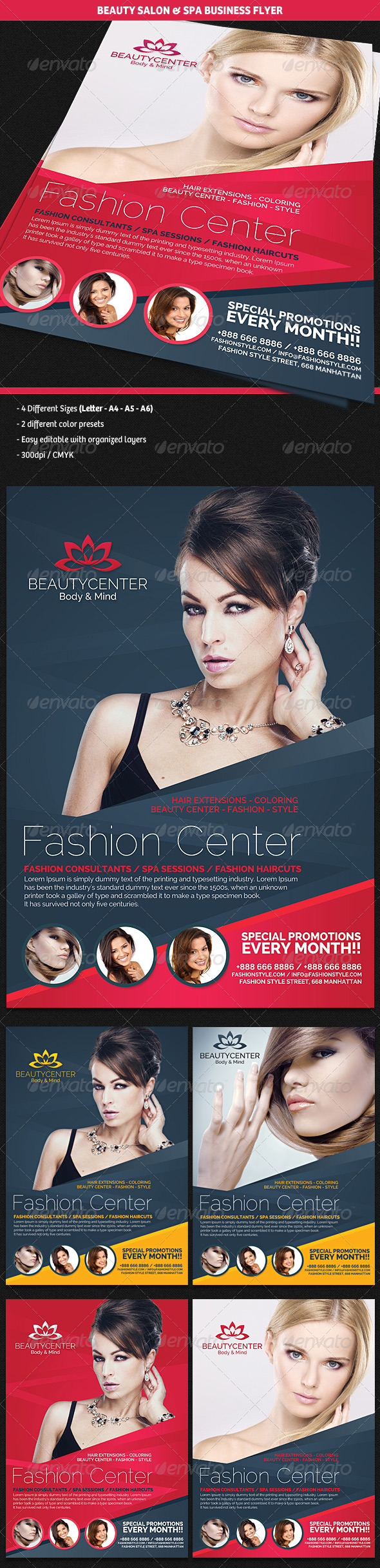 GraphicRiver Beauty Center & Spa Business Flyer 4661292