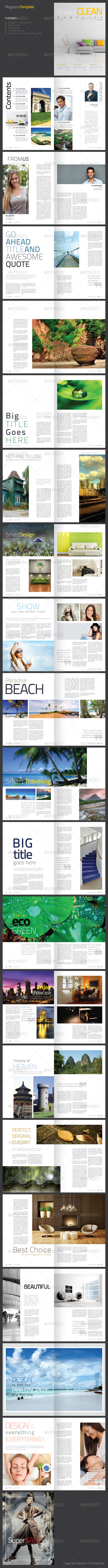 GraphicRiver Smart Clean Magazine Template 4661478