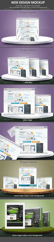 GraphicRiver Web Design Mockup 4594264