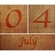 Wooden calendar July 4. - PhotoDune Item for Sale