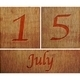 Wooden calendar July 15. - PhotoDune Item for Sale