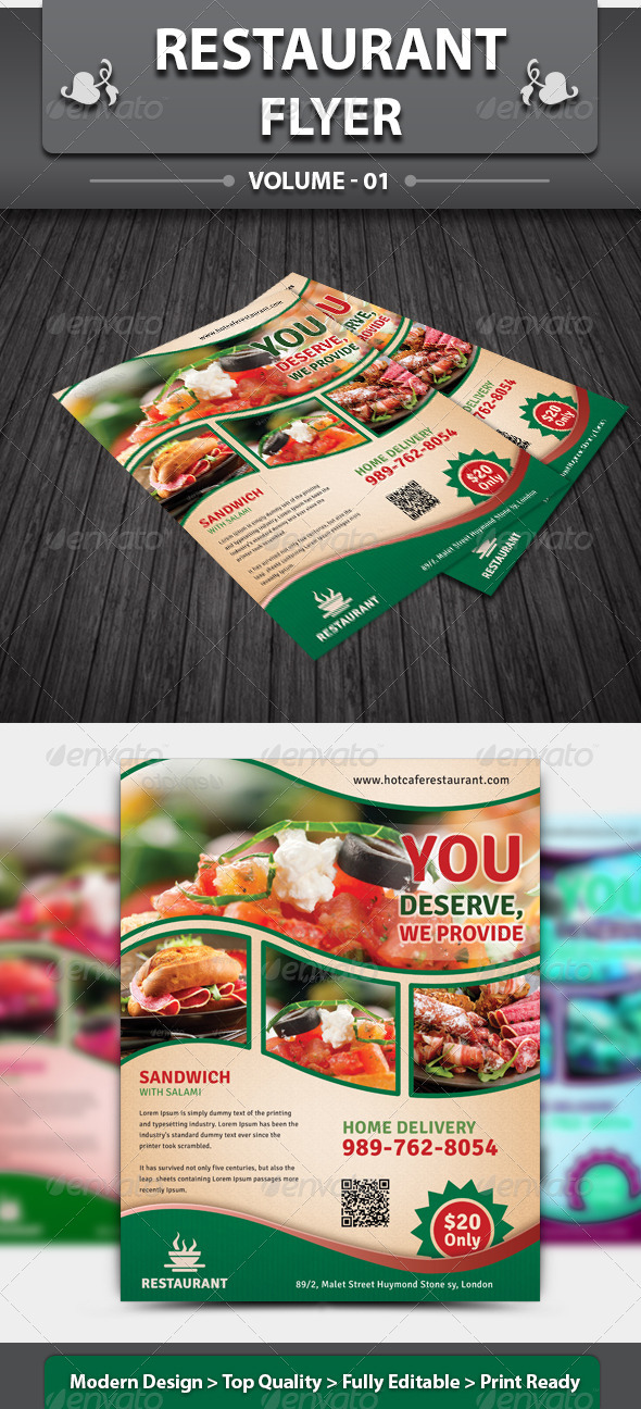 Restaurant Business Flyer | Volume 1 - Restaurant Flyers