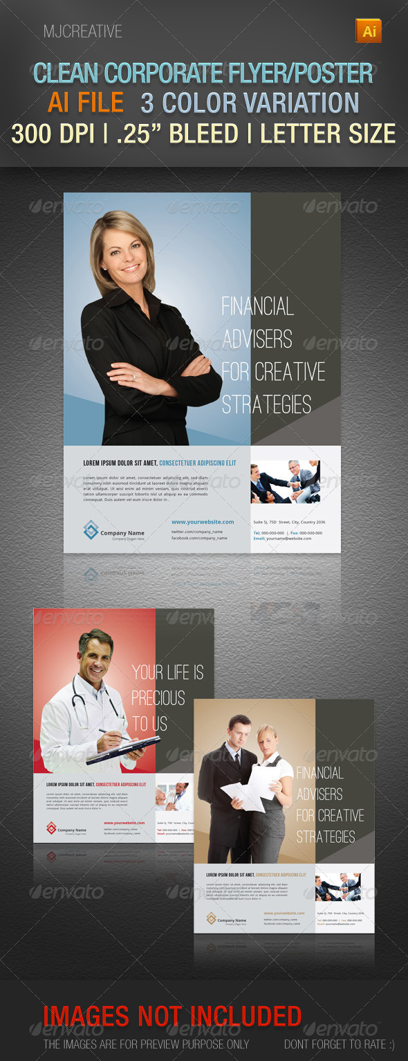 GraphicRiver Clean Corporate Flyer Poster 4662431