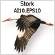 Stork - GraphicRiver Item for Sale