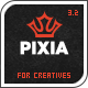 Pixia Wordpress Theme - ThemeForest Item for Sale