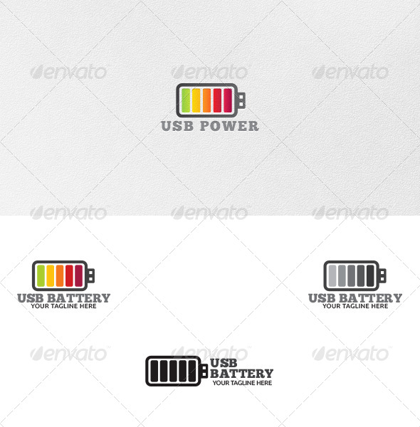 GraphicRiver USB Battery Logo Template 4663112