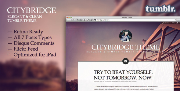 CityBridge — Retina Tumblr Blog Theme