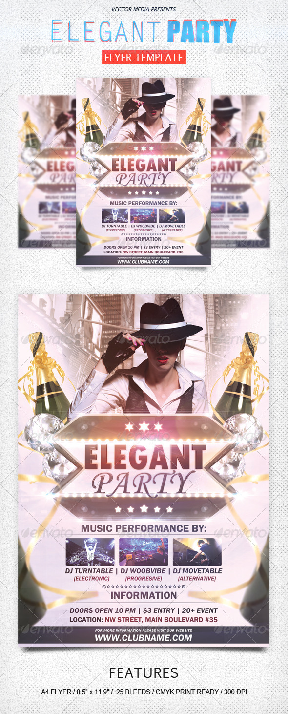GraphicRiver Elegant Party Flyer 4663553