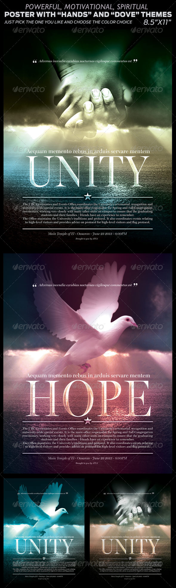 Spiritual Poster with Two Themes - Flyers Print Templates