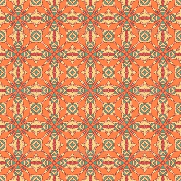 GraphicRiver Seamless Colorful Retro Pattern Background 4664112