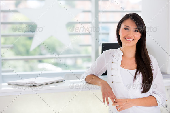 Business owner of a beauty salon - Stock Photo - Images