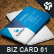 Business Card Design 61 - GraphicRiver Item for Sale