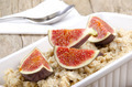 porridge with fig in a white bowl - PhotoDune Item for Sale