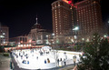 providence on a cold december evening with people ice skating - PhotoDune Item for Sale