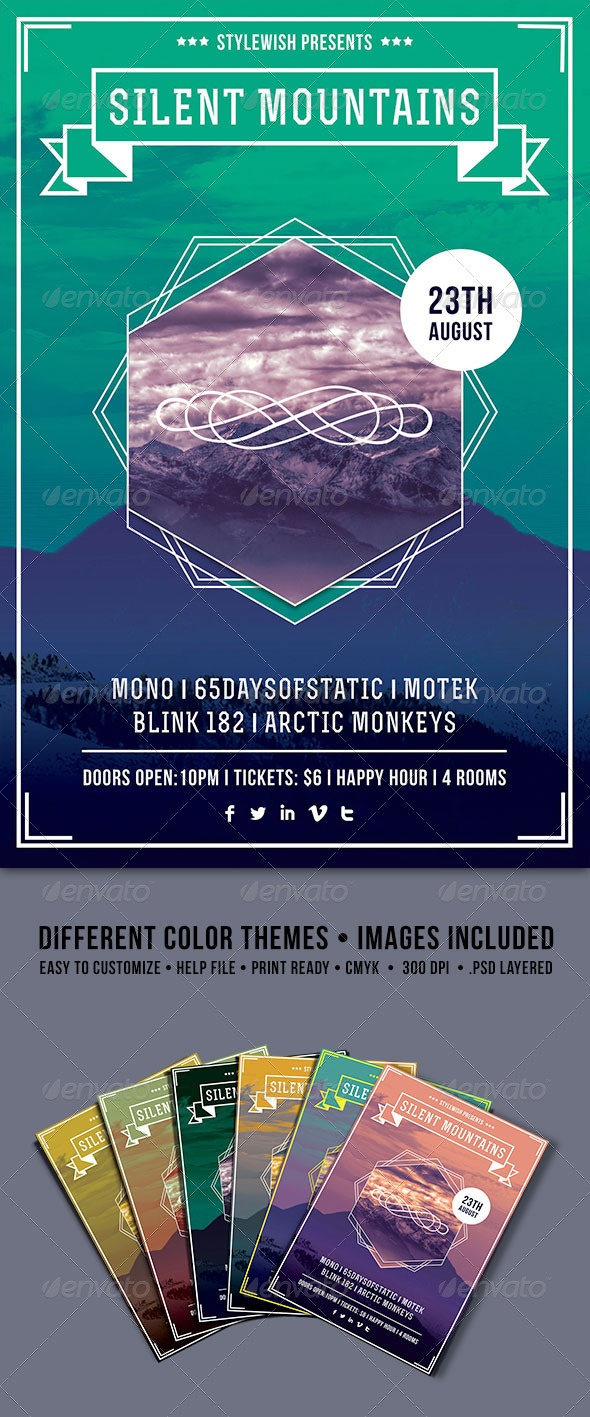GraphicRiver Silent Mountains Flyer 4473297