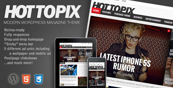 ThemeForest Hot Topix Modern Wordpress Magazine Theme 4641602