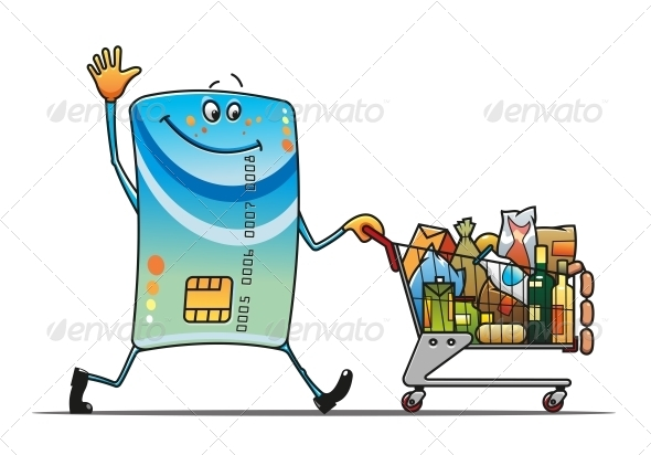 GraphicRiver Credit Card with Shopping Cart 4667347