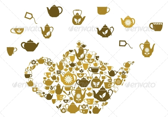 GraphicRiver Teapots and Cups of Tea 4667385