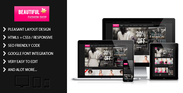 bShop - Dark Shopping Cart Website Template