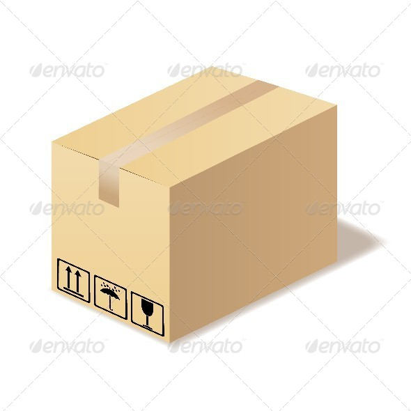 GraphicRiver Closed Cardboard Box Isolated 4668285