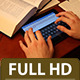 Typing Homework on a Tablet - VideoHive Item for Sale