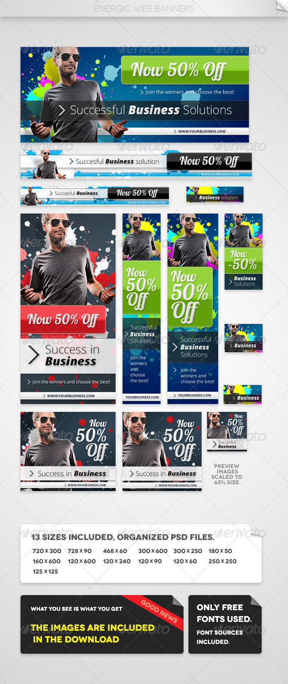 GraphicRiver Energic Web Banners 4669342