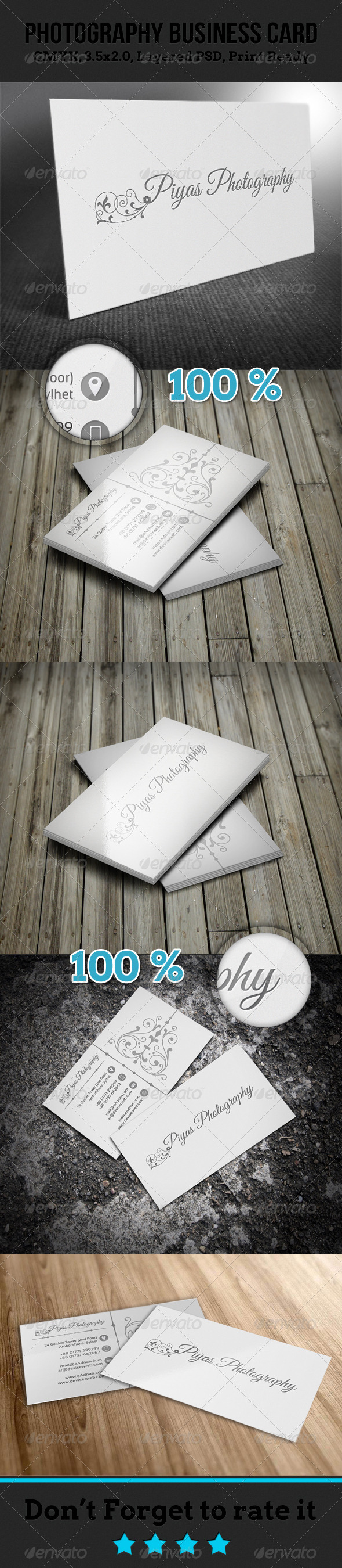 GraphicRiver Photography Business Card 4669855