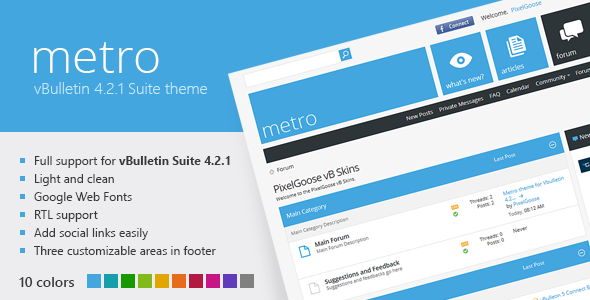Metro - A Theme for vBulletin 4.2 Suite - vBulletin Forums